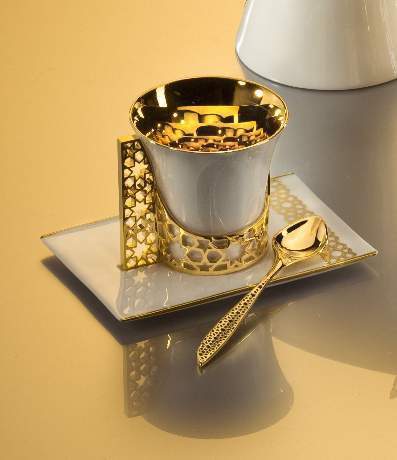 Gold Titanium Plated Coffee Mug