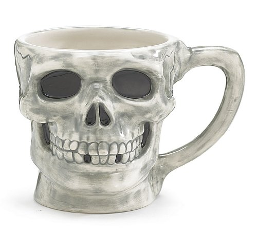 Large Skeleton Skull Halloween Coffee Mug