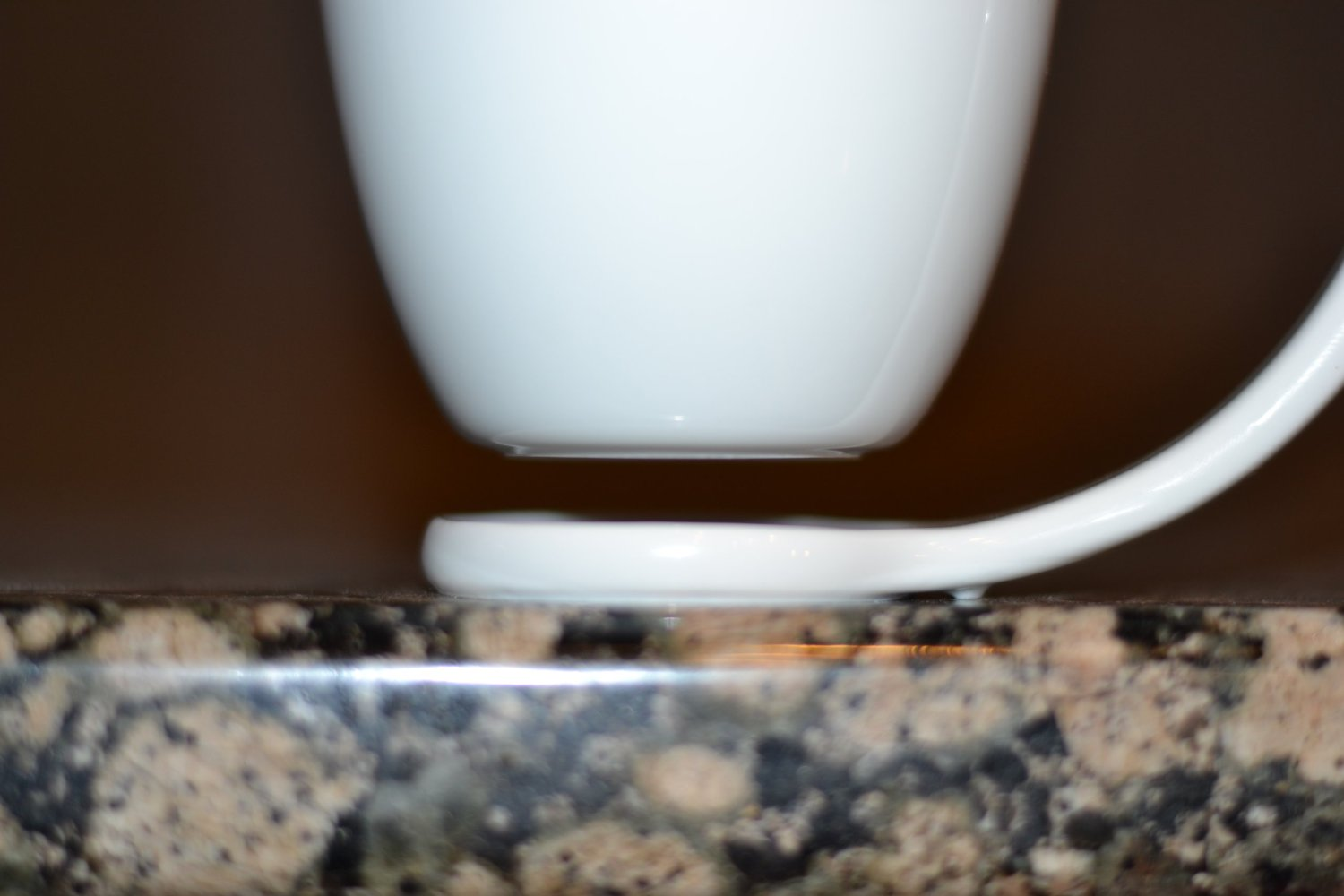 Floating Coffee Mug Close Up