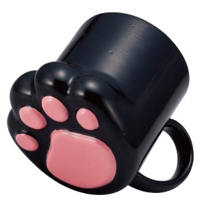 Black paw coffee mug